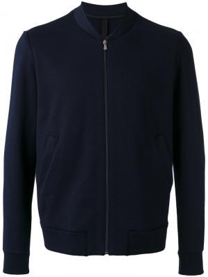 Куртка бомбер с боковыми карманами Harris Wharf London. Цвет: синий