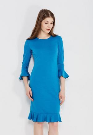Платье Shelter. Цвет: голубой