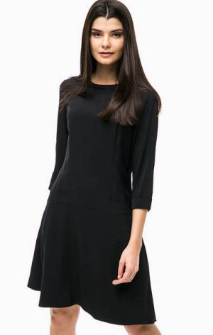 Базовое платье из вискозы с карманами Marc O'Polo. Цвет: черный