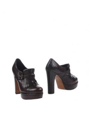 Ботинки SPAZIOMODA. Цвет: темно-коричневый
