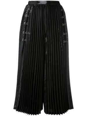 Плиссированные широкие кюлоты Comme Des Garçons Noir Kei Ninomiya. Цвет: чёрный