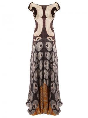 Платье с плиссировкой и открытыми плечами Afroditi Hera. Цвет: многоцветный