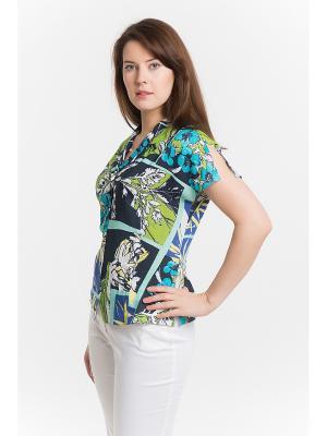 Блузка ESSA. Цвет: синий