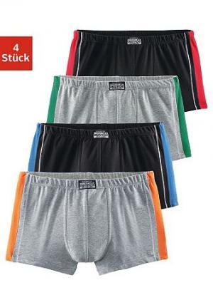 Комплект: Боксеры, Authentic Underwear Le Jogger (4 пары). Цвет: 2x чёрный + +2x серый меланж