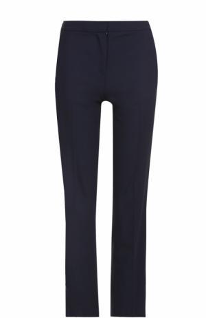 Укороченные брюки прямого кроя со стрелками Diane Von Furstenberg. Цвет: синий