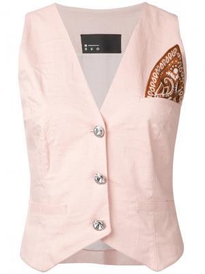 Пиджак с нашивкой N Duo. Цвет: розовый и фиолетовый