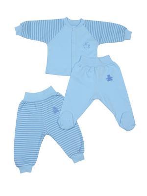 Комплект для малышей M-BABY. Цвет: голубой