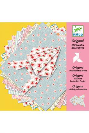 Оригами, 100 листов Djeco. Цвет: розовый, желтый