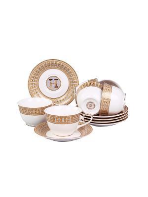 Набор чайный 12 предметов 240 мл. PATRICIA. Цвет: коричневый