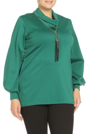 Туника с кулоном Classic Fashion. Цвет: темно-зеленый