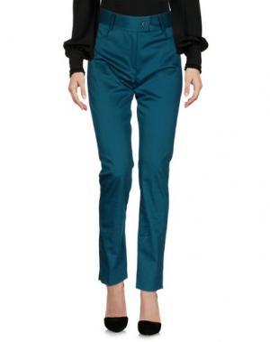 Повседневные брюки MEAM BY RICARDO PRETO. Цвет: цвет морской волны