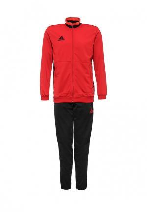 Костюм спортивный adidas Performance. Цвет: красный