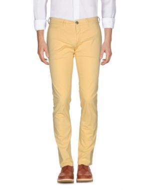 Повседневные брюки SIVIGLIA. Цвет: светло-желтый
