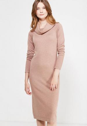 Платье Sela. Цвет: бежевый