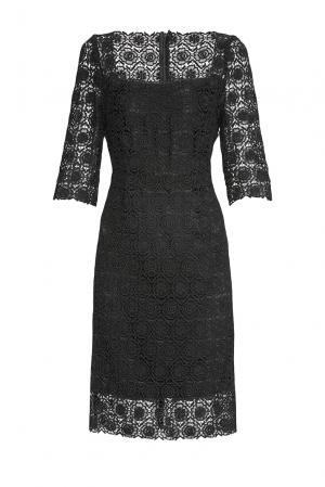 Кружевное платье 173459 Villa Turgenev. Цвет: черный
