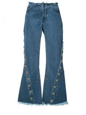 Расклешенные джинсы Marquesalmeida Marques'almeida. Цвет: синий