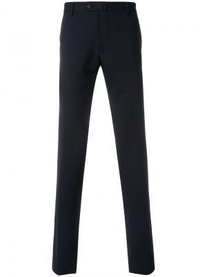 Классические брюки Caruso. Цвет: синий