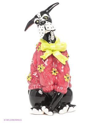 Фигурка Пес в свитере Blue Sky. Цвет: черный, салатовый, фуксия