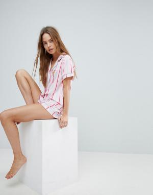 Chelsea Peers Пижамный комплект с шортами. Цвет: розовый