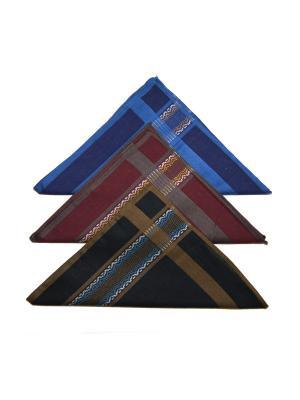 Носовой платок, 3 шт Lola. Цвет: черный, бордовый, синий