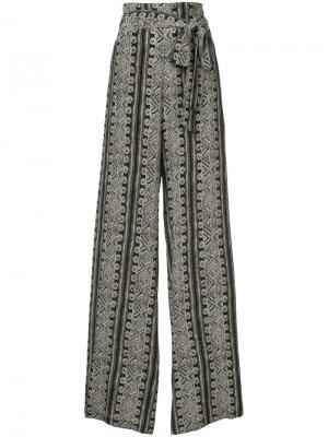 Широкие брюки с принтом Sally Lapointe. Цвет: чёрный
