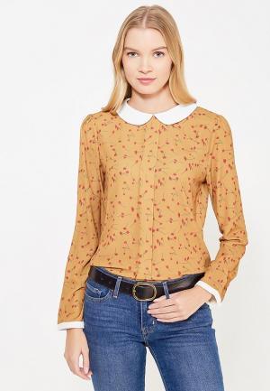 Блуза La Petite Etoile. Цвет: коричневый