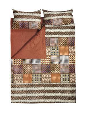 Комплект постельного белья 1,5 сп. Dream time. Цвет: коричневый, оранжевый