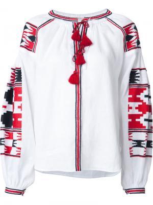 Блузка с этнической вышивкой Vita Kin. Цвет: белый