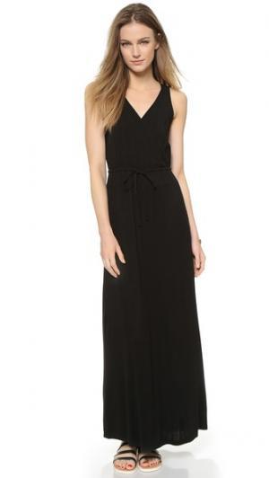 Комбинированное платье с рубчатой отделкой Splendid. Цвет: голубой