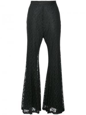 Foiled lace flared pants G.V.G.V.. Цвет: чёрный