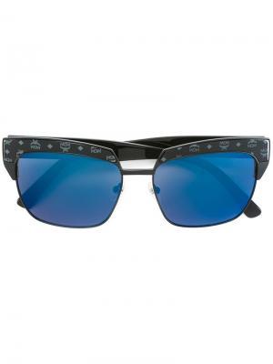 Солнцезащитные очки с квадратной оправой MCM. Цвет: чёрный