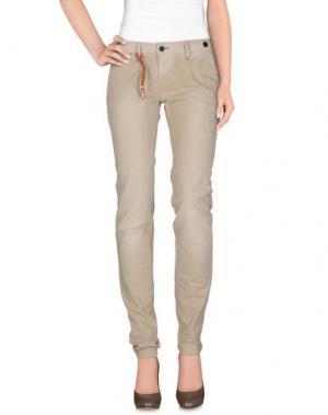 Джинсовые брюки JFOUR. Цвет: бежевый