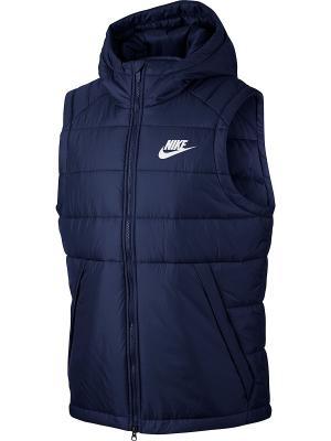 Жилет M NSW SYN FILL VEST Nike. Цвет: синий, белый