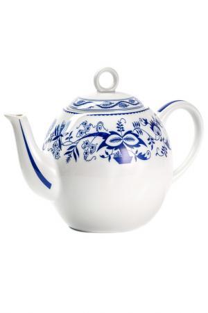 Чайник Синий лук 1 л La Rose des Sables. Цвет: белый, синий
