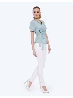 Блузка LO. Цвет: серо-зеленый