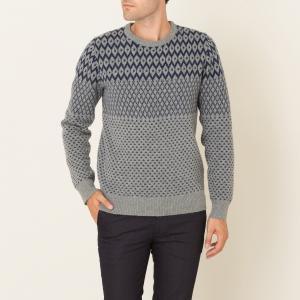Пуловер жаккардовый HARTFORD. Цвет: серый