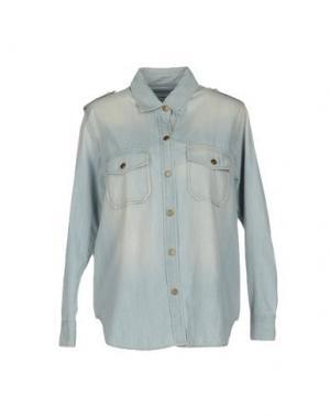 Джинсовая рубашка REIKO. Цвет: небесно-голубой