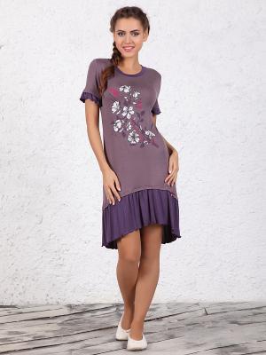 Платье NicClub. Цвет: лиловый