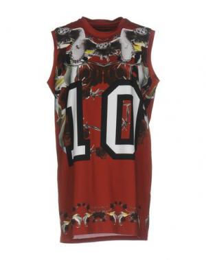 Короткое платье LES ÉCLAIRES. Цвет: красно-коричневый