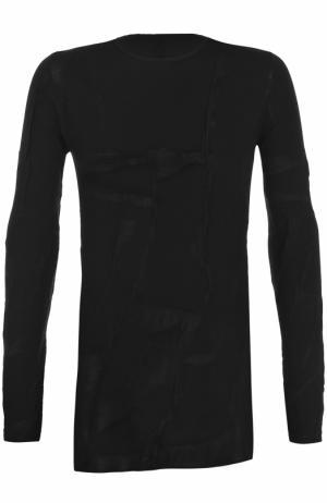 Однотонный пуловер с круглым вырезом Masnada. Цвет: черный