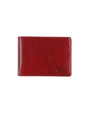 Бумажник GIUDI. Цвет: кирпично-красный