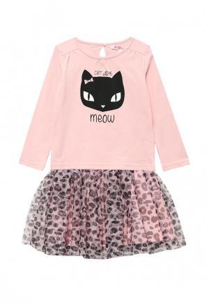 Комплект лонгслив и юбка Modis. Цвет: розовый
