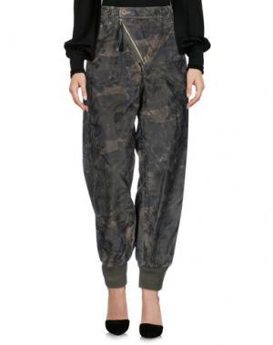 Повседневные брюки MARIAGRAZIA PANIZZI. Цвет: зеленый-милитари