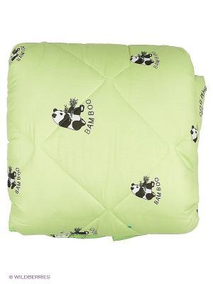 Одеяло Letto бамбук Панда в п/э Евро, 200*215см. Цвет: зеленый
