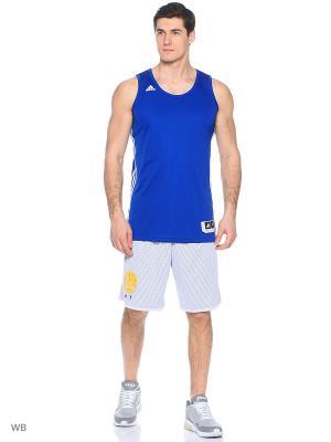 Игровая майка джерси муж. PRAC REV JERSEY  COLROY/WHT Adidas. Цвет: синий, белый