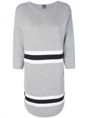 Платье-джемпер с контрастными вставками Lorena Antoniazzi. Цвет: серый