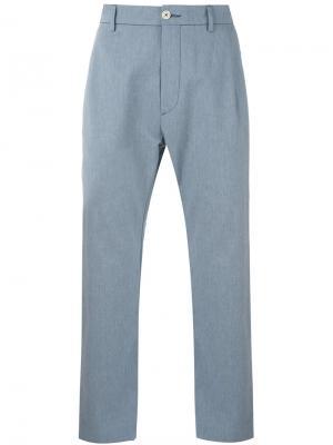 Укороченные брюки Pence. Цвет: синий
