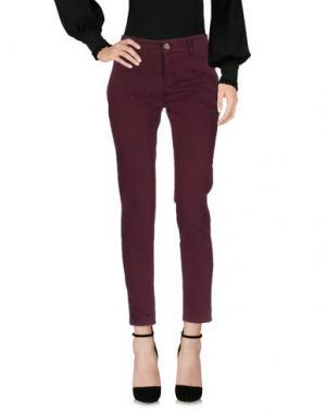 Повседневные брюки DIRTYPAGE. Цвет: пурпурный