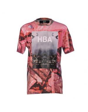 Футболка HBA HOOD BY AIR. Цвет: розовый