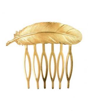 Аксессуар для волос DES PETITS HAUTS. Цвет: золотистый